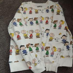 characters peanuts sweatshirt